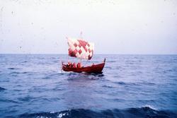 "Bild på en vikingabåt "" Krampmacken"". Krampmacken var en rek"