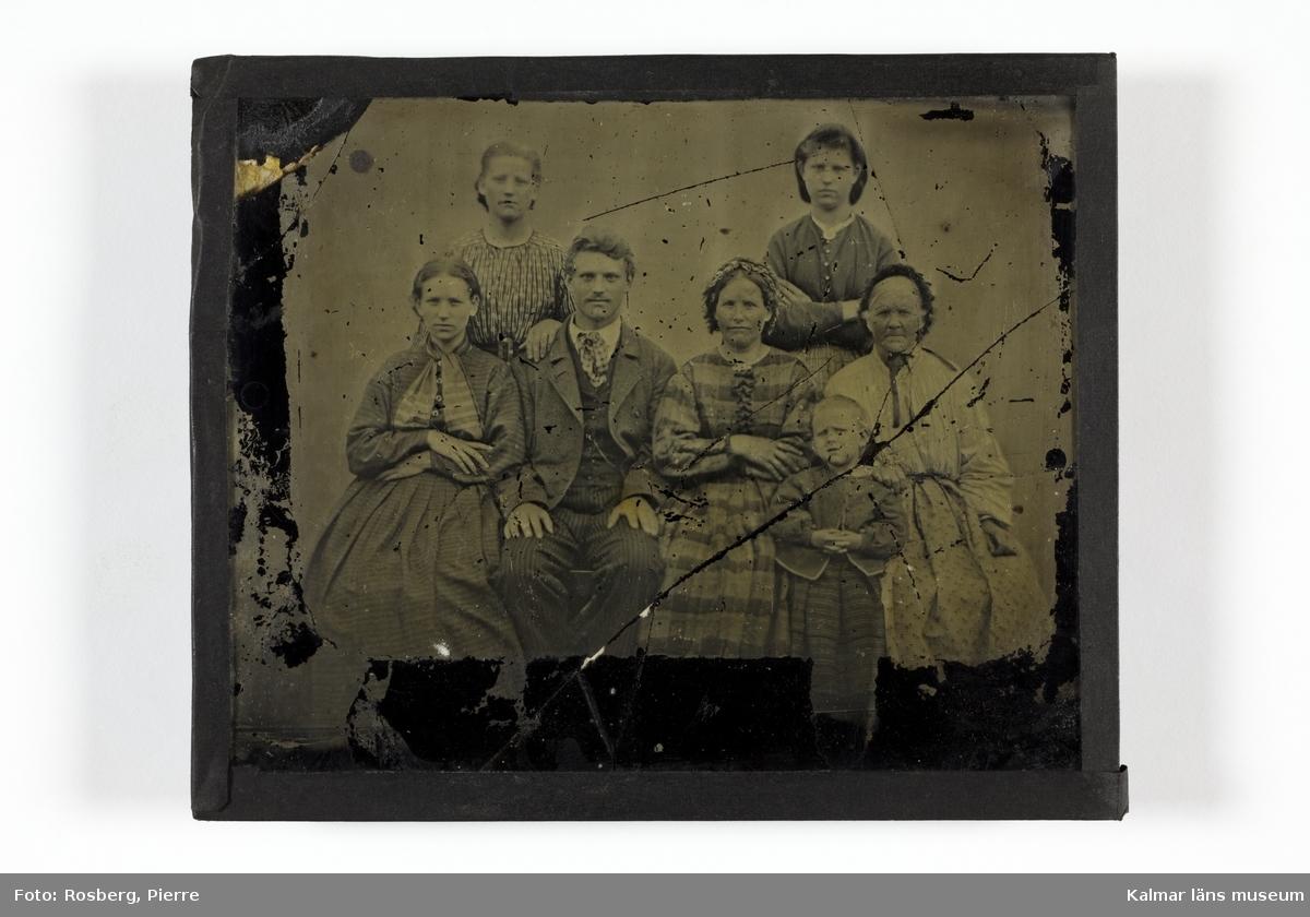 Gruppbild med medlemmar ur familjerna Fornander och Barck.