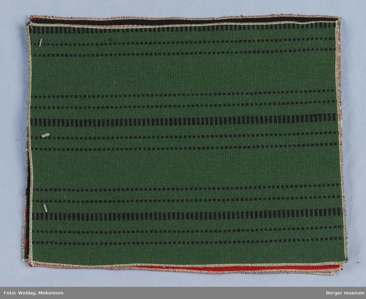 Møbelstoff 4 prøver Tverrstripet - smale striper