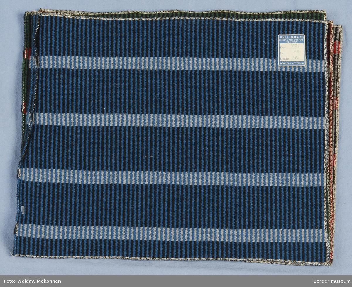 Møbelstoff 5 prøver Tverrstripet - brede og smale striper