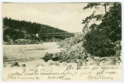 Trollhättan, Jernbron öfver Stampeströmsfallet.