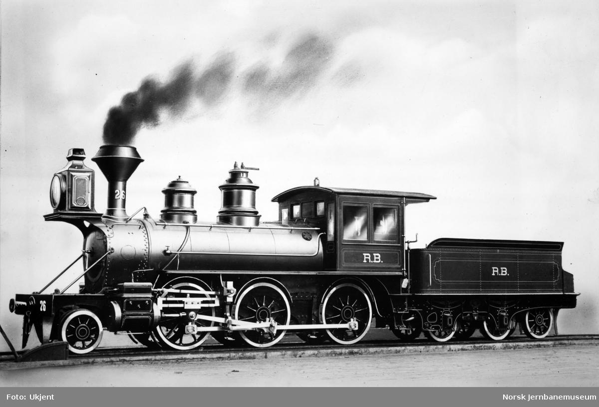 Damplokomotiv type XVII nr. 26 som nytt