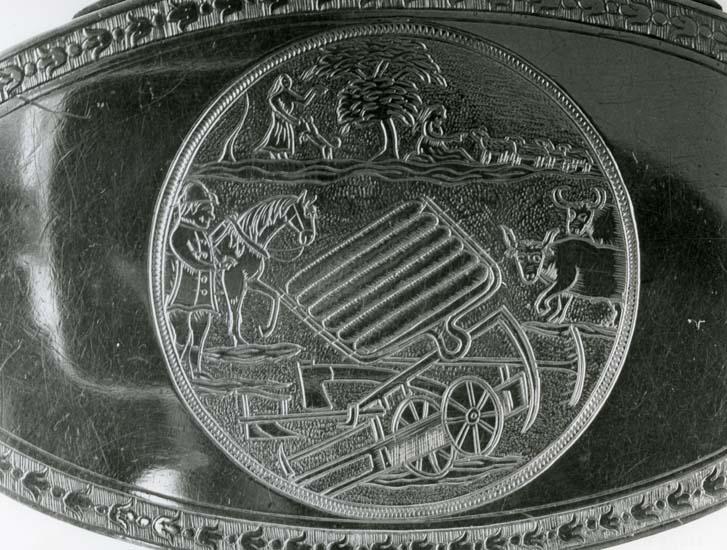Del ur Helge Nords silversamling. Silversmed Lars Fredin (LF) 1826 - 1851.