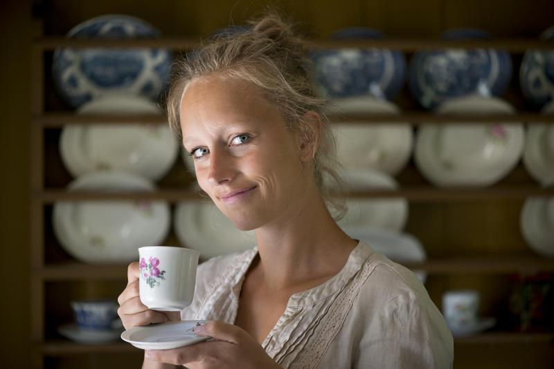 En velfortjent kaffepause for mor.