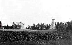Mona i Eidsberg med hotell og utsiktstårn, antakelig i 1920-
