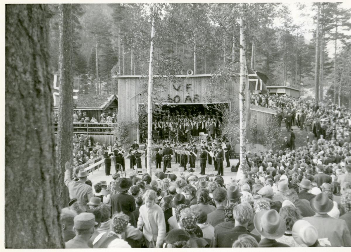 Frå feiringa av 60-års jubileet på Valdres Folkemuseum.