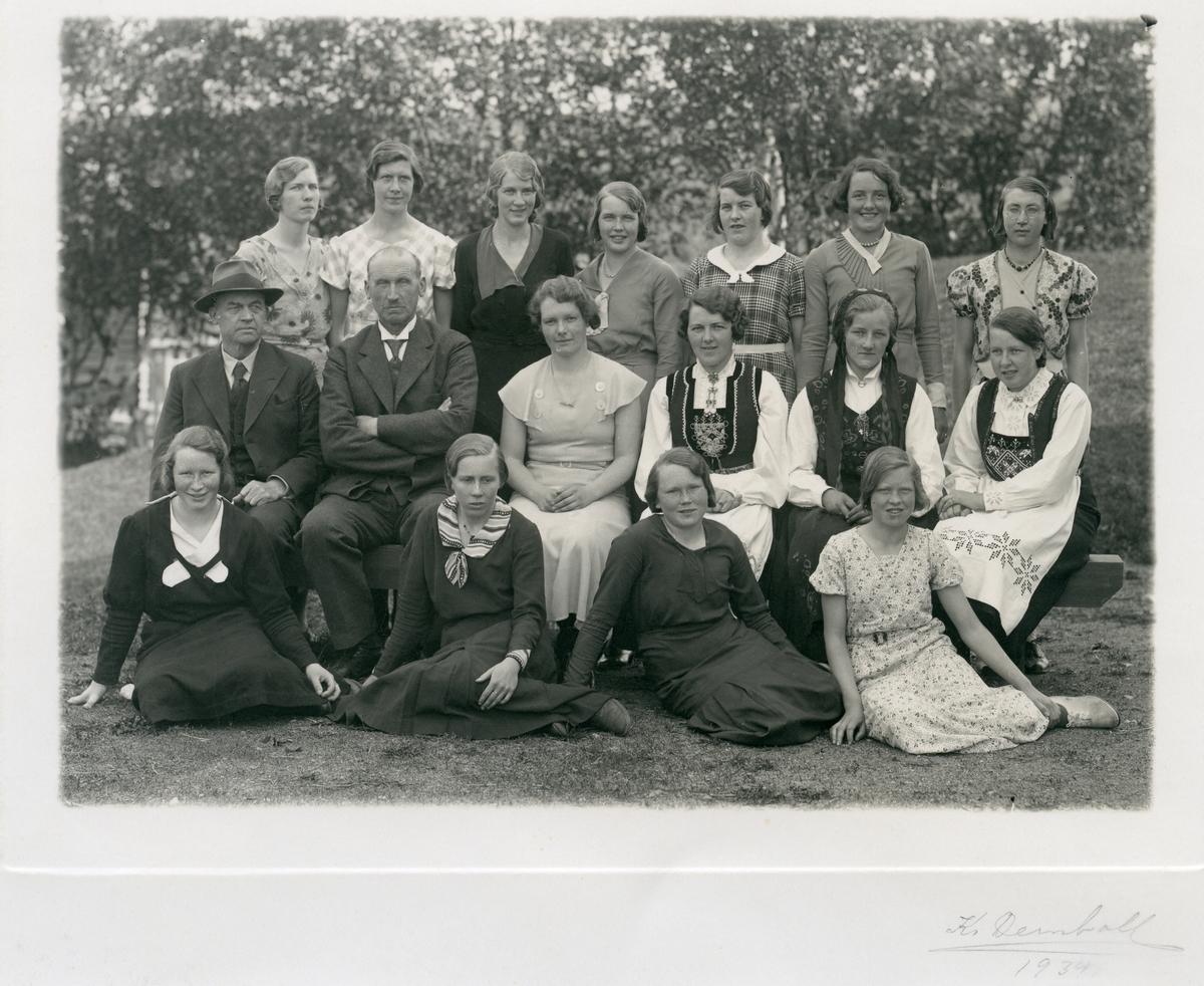 Jenteklasse ved Vestoppland Folkehøgskule, 1934.