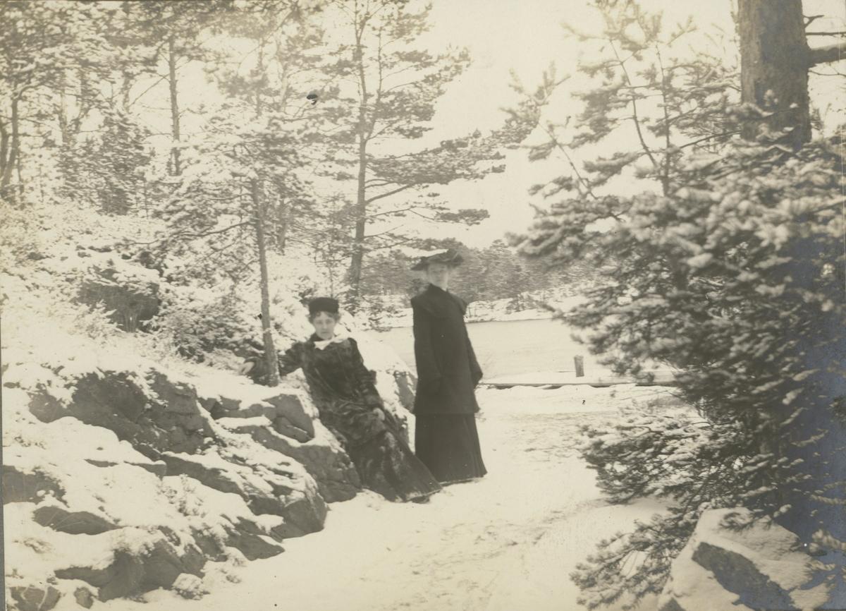 Vid Nygrens brygga på Baggensudden 1904.