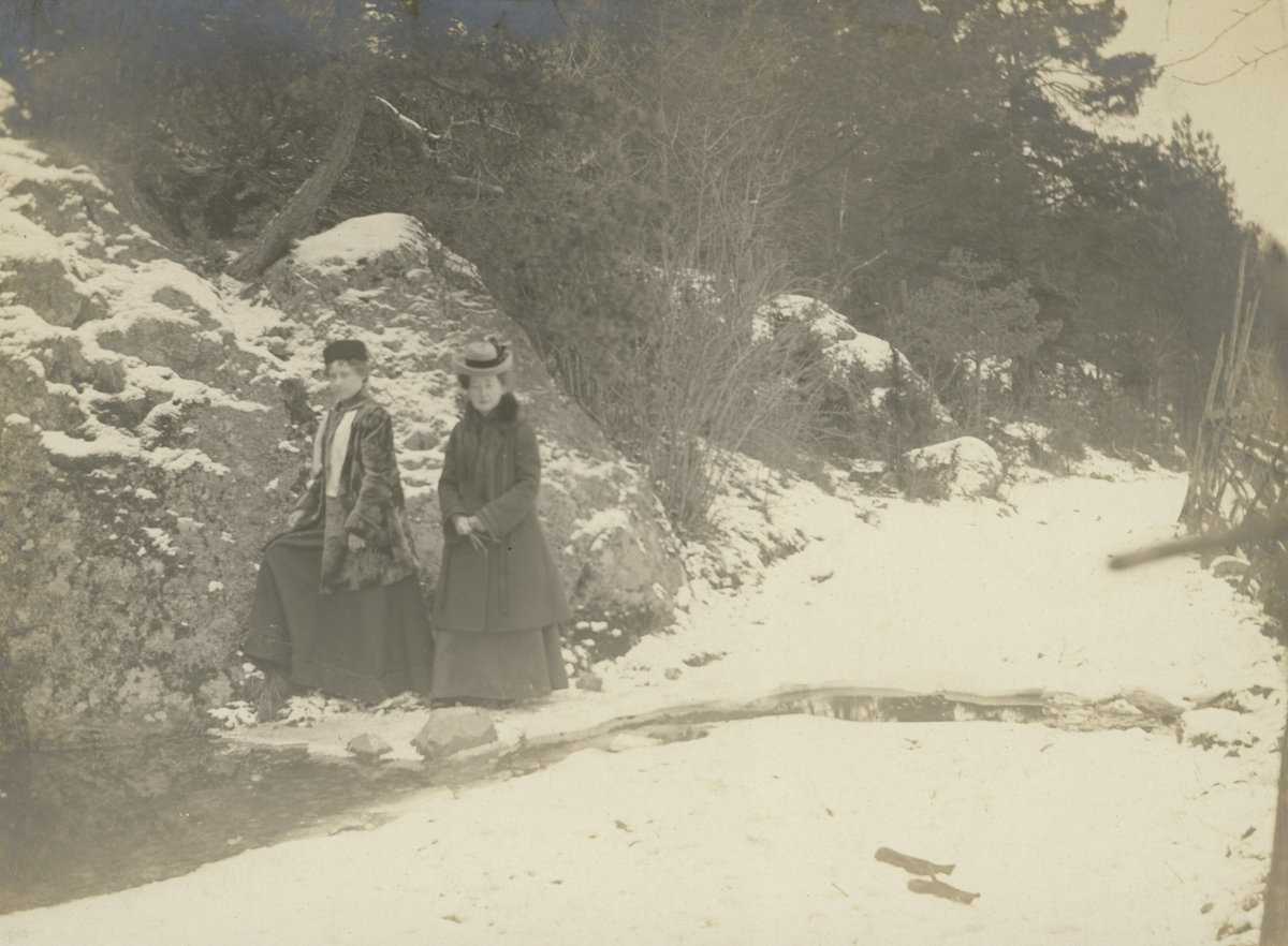 Hanna Ideström och Alfhild Möllerberg i Neglinge Tattby 1904.