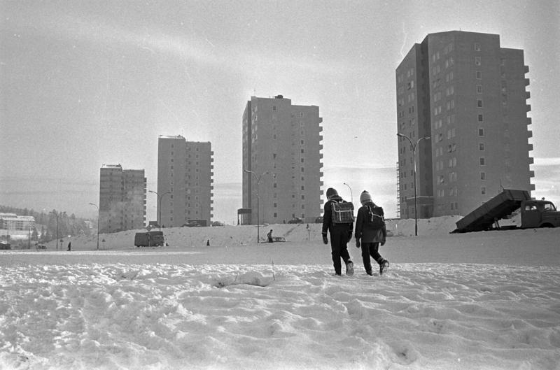 Høyhus på Refstad, Oslo. 1961.