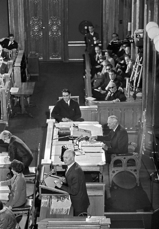 Kings Bay debatten i Stortinget august 1963.