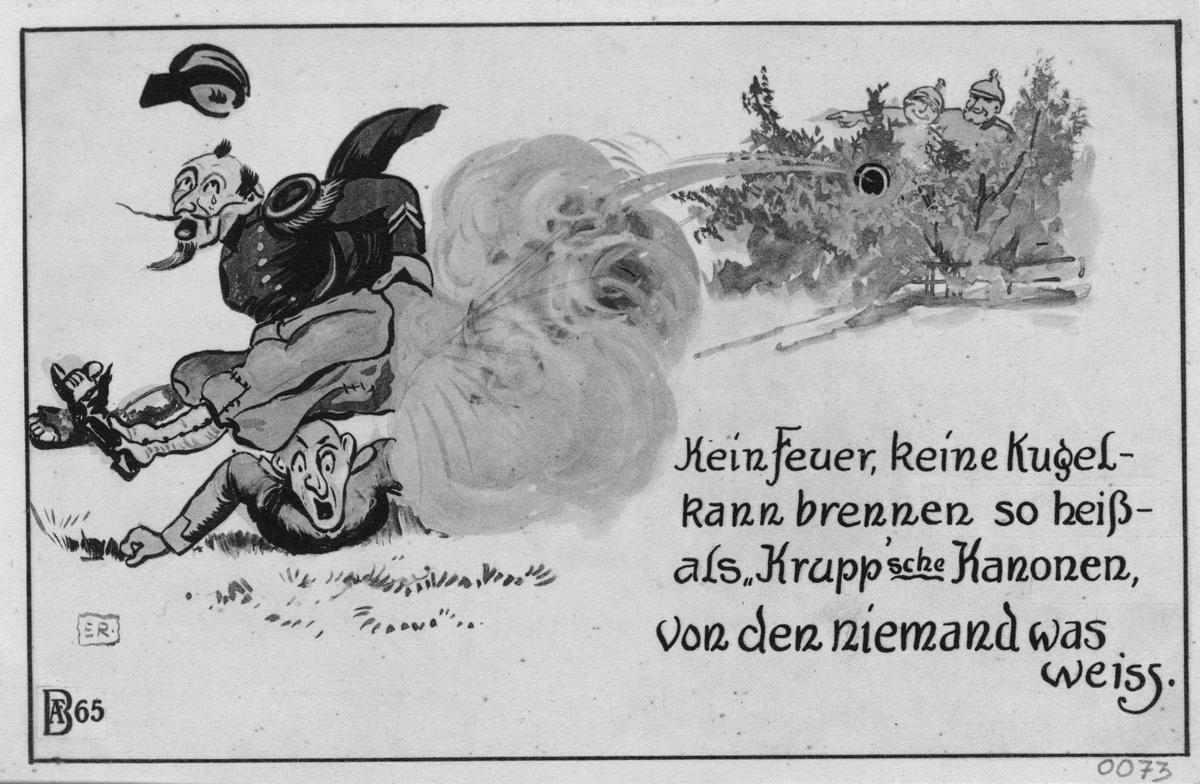 Tysk propagandabild från första världskriget.