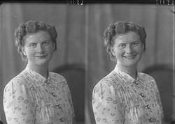 Portrett. En kvinne. Bestillt av Ragna Kongshavn. Gange Rolf