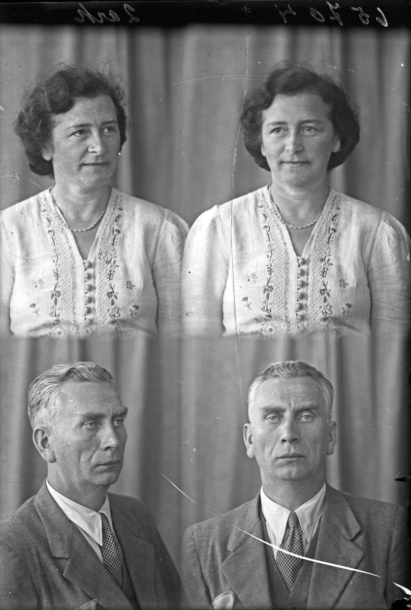 Portrett.  En kvinne og en mann. Bestillt av Meieribestyrer Try. Hr. og Fru.