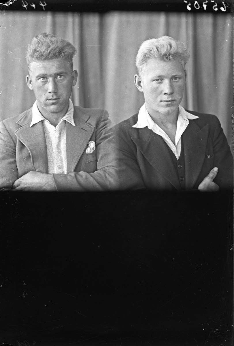 Portrett. To unge menn. Bestillt av Andreas Steinsland og Jens Bjørnevik. Bjørnevik.