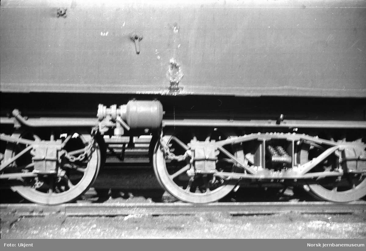 Damplokomotiv type 39a nr. 168 - tenderboggier
