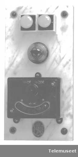 Apparattavle for maskininduktor. Elektrisk Bureau.