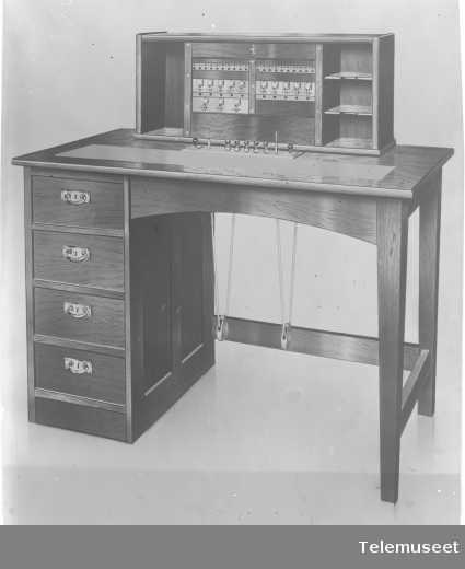 Bestyrerbord, telefonsentral, Stavanger, 5.2.1915. Elektrisk Bureau.