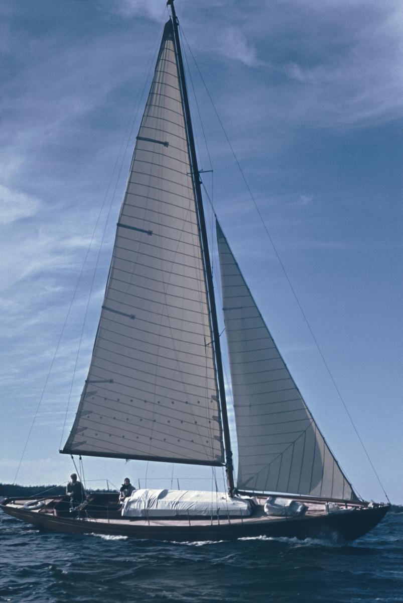 Segelbåten Elsi-Anne ute på seglats.