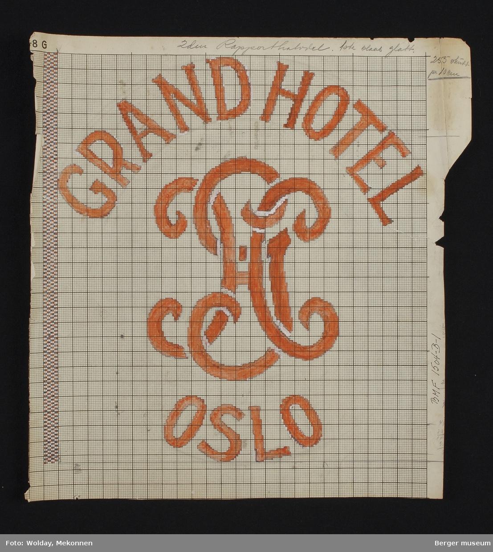 GRAND HOTEL. OSLO. GH (logo).