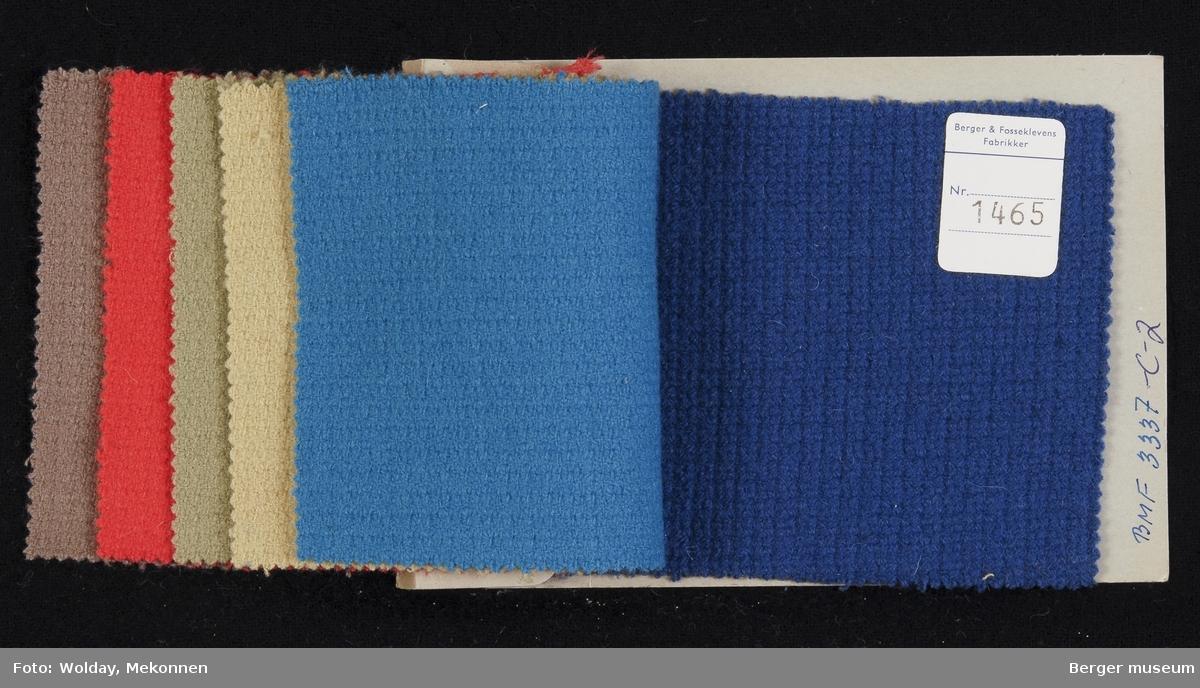 Prøvehefte med 6 prøver Jakke Kvalitet 6024 Stykkfarget