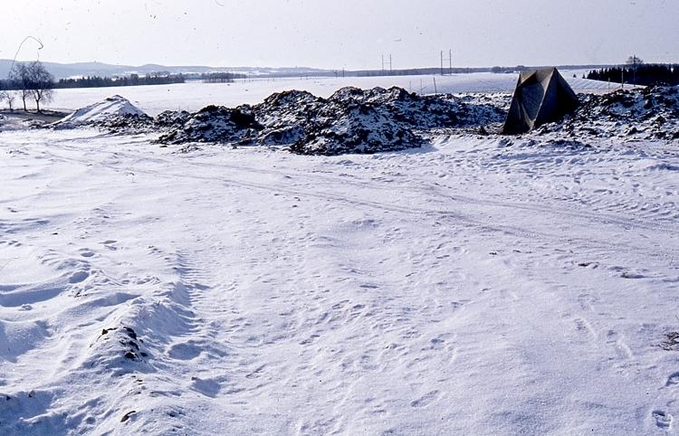 Bilden tagen vid Dagsnäs i samband med omläggning av vägen mellan Skara och Falköping.