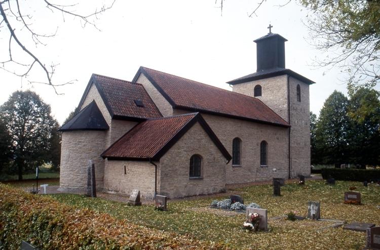 Bildtext: Norra Lundby socken. Kyrkan.