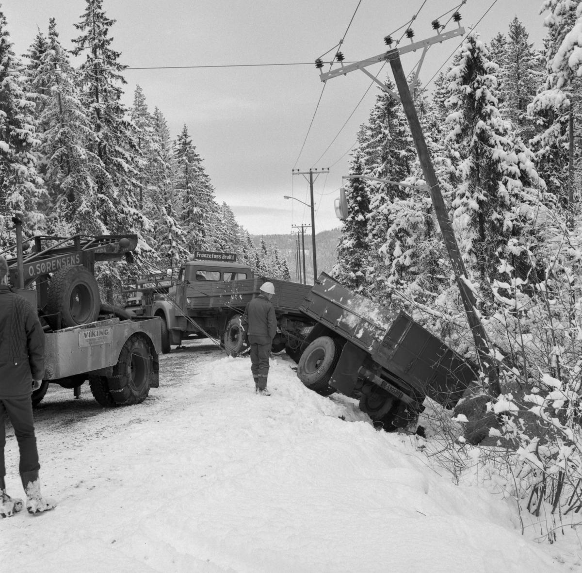 Utforkjøring av trailer ved Feiring Bruk