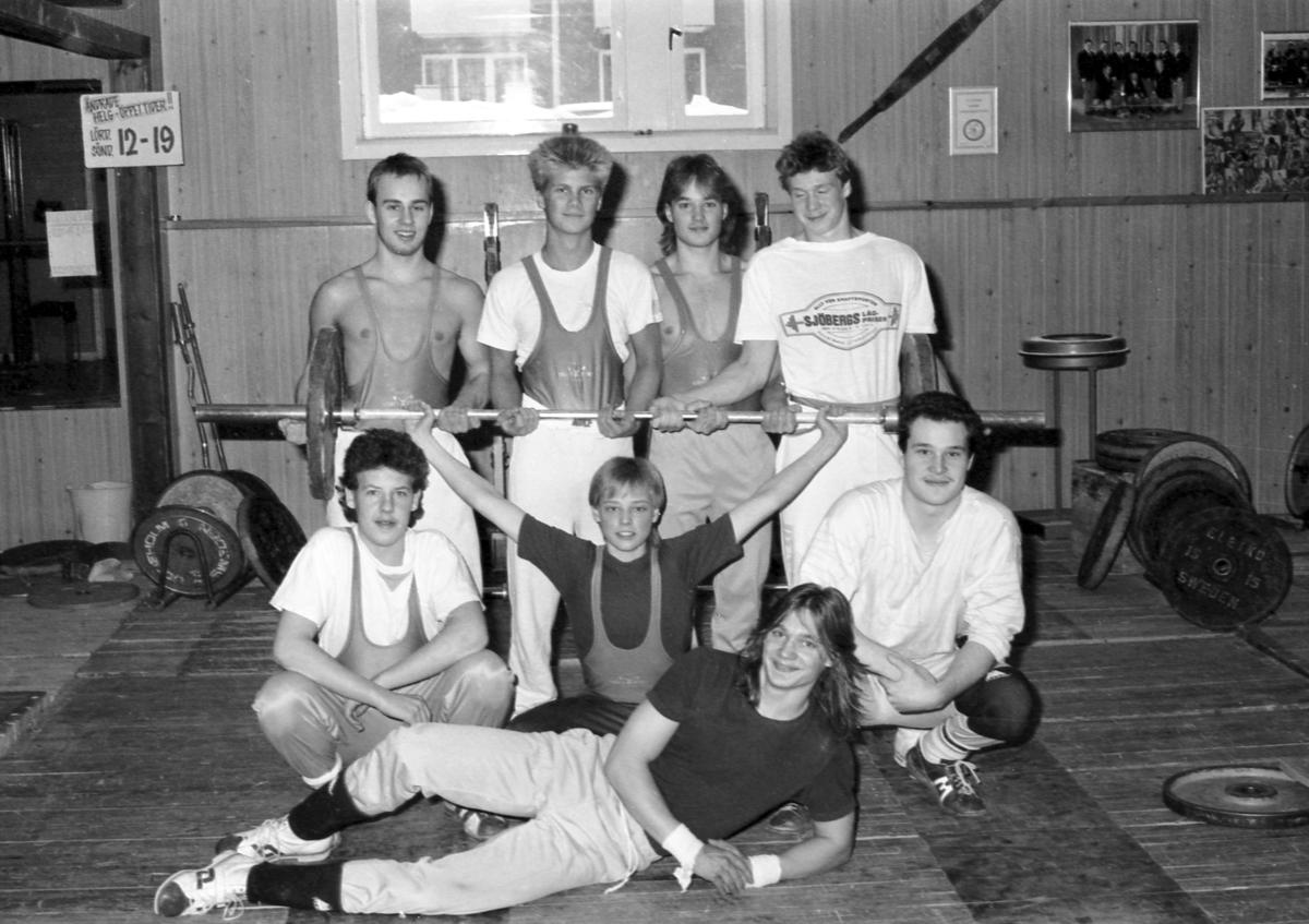 Gävle KK Tyngdlyftning. Januari 1986.