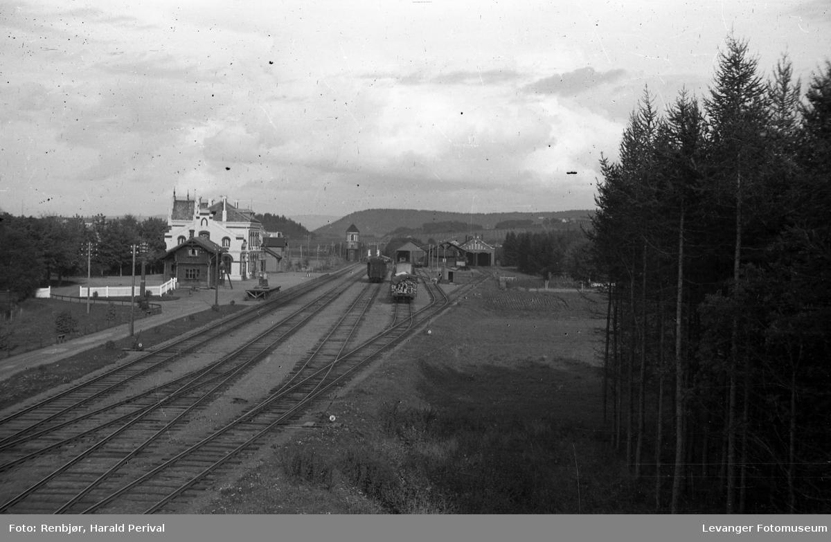 Jernbanestasjonen i Levanger.