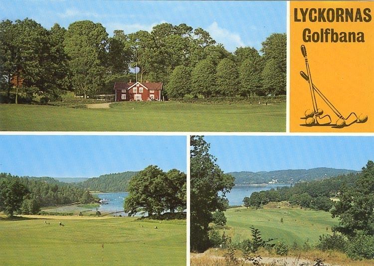 """Enligt Bengt Lundins noteringar: """"Lyckornas golfbana. 3-Bild""""."""