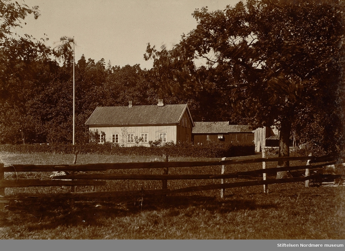 Husmannsplass/tjenerbolig på Ulleberg.  Bilde fra Marie Knudtzon (1879-1966) sin fotosamling. Se bilde nr KMb-2010-011.0001 for mer biografi. Fra Nordmøre museum sin fotosamling.