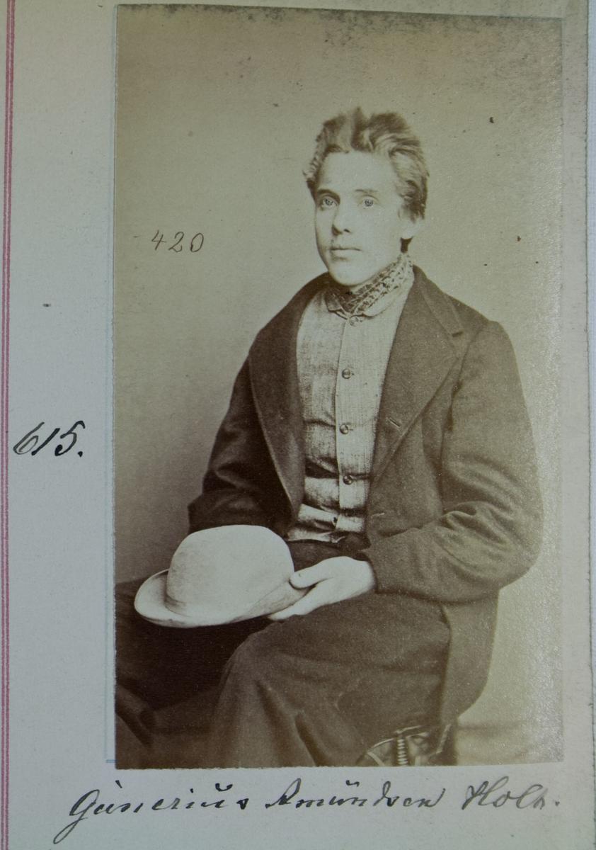 Fangeportrett, Gunerius Amundsen Holt