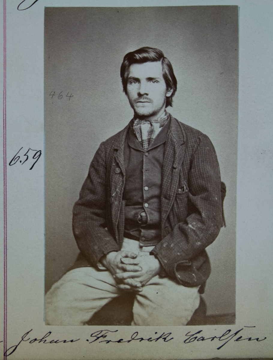 Fangeportrett, Johan Fredrik Carlsen