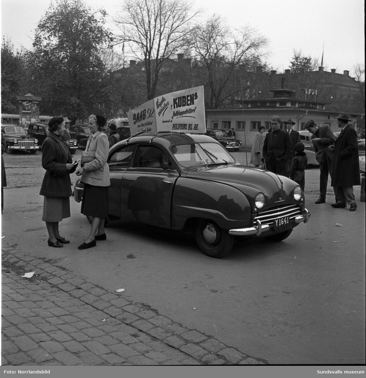 En Saab 92 var högsta vinsten i Kubens julklappslotteri 1951.