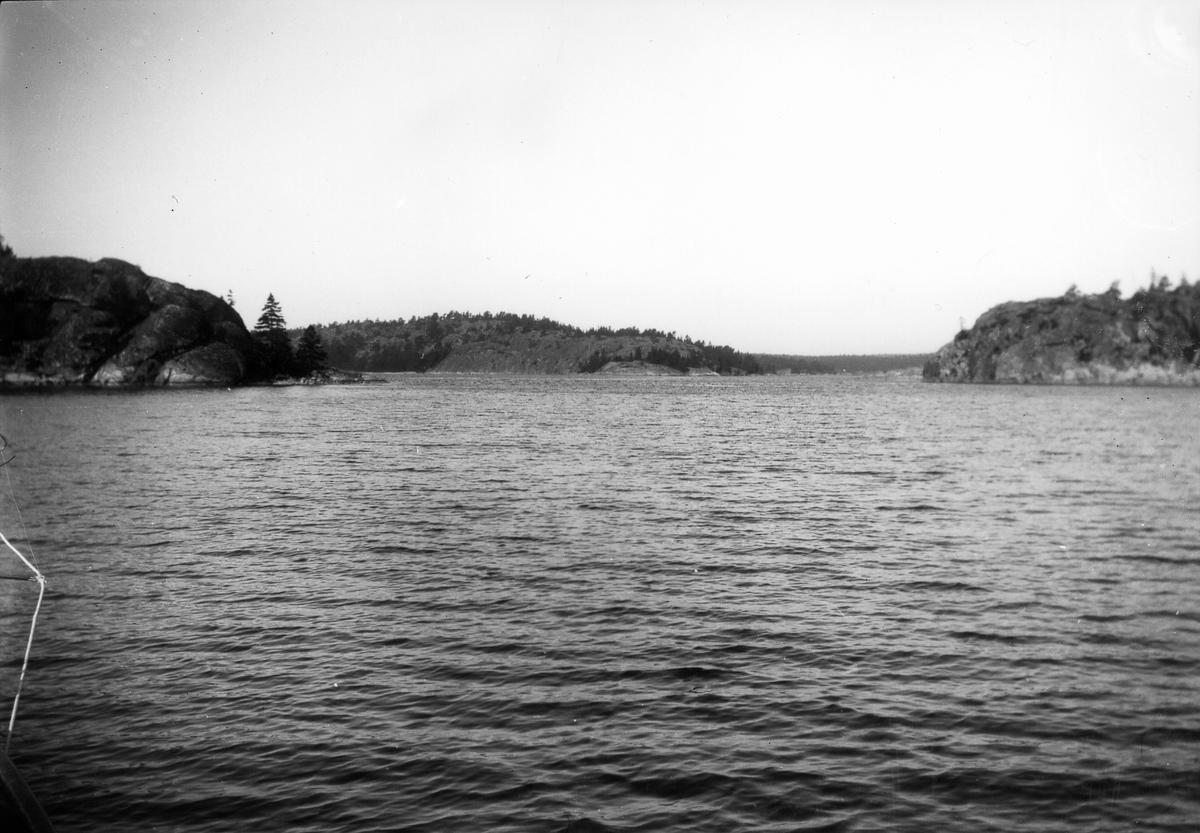 Okänt motiv från seglatsen Gävle-Göteborg. Foto 1923.