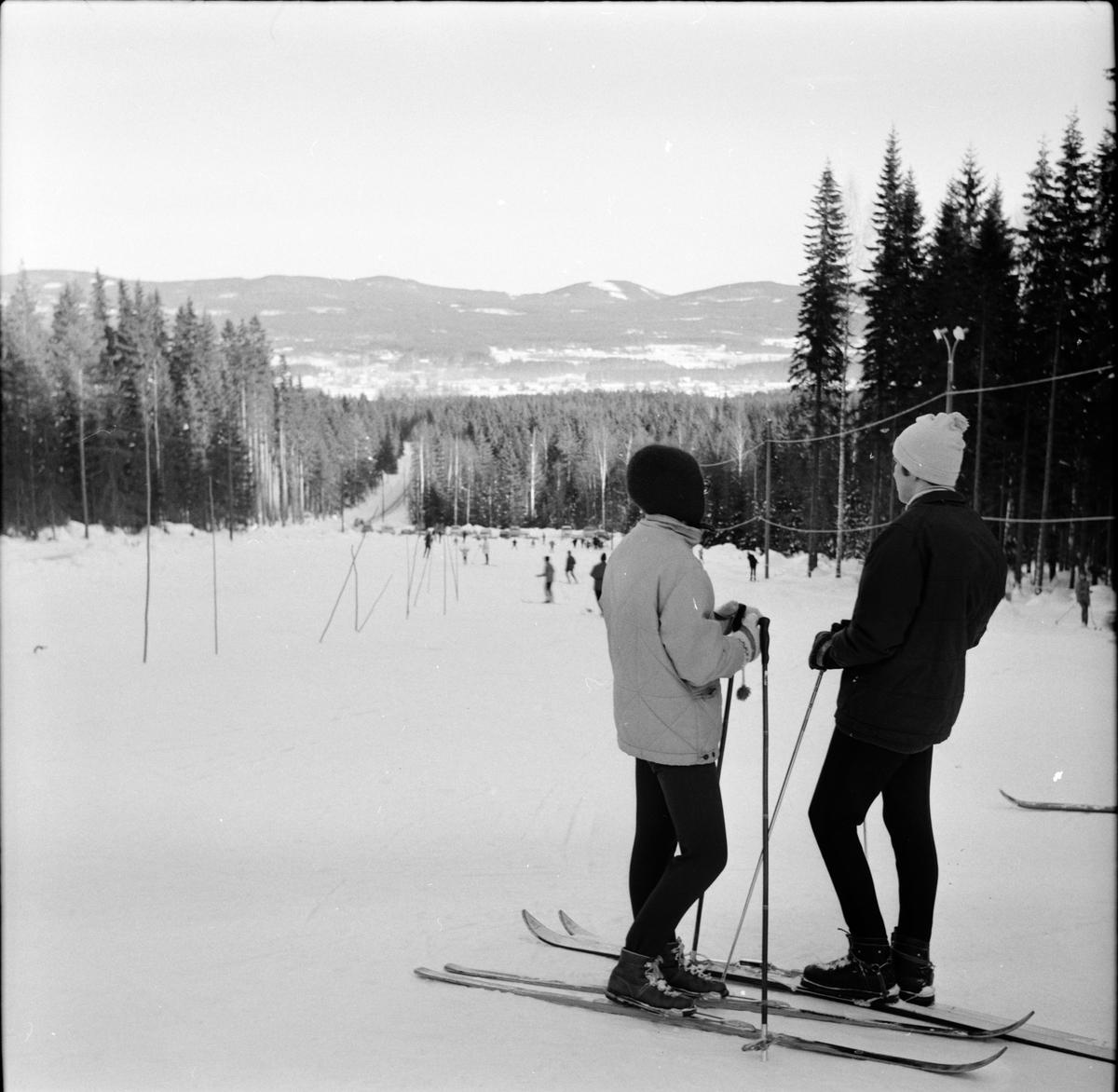 Arbrå, Bilder från slalombacken, Februari 1968