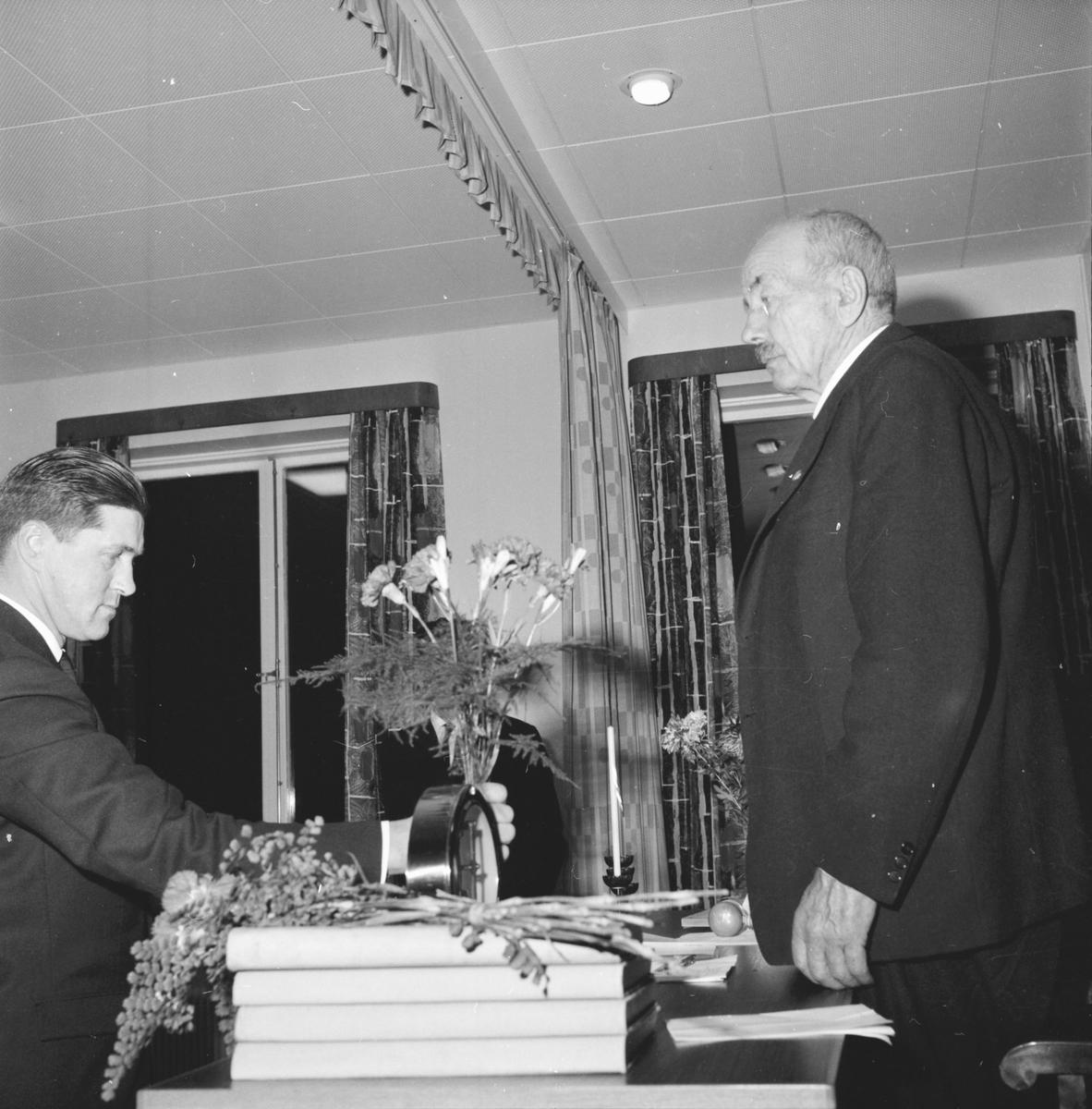 Komm.Fullm. David Petterssons farväl, Skog. 15 dec. 1962