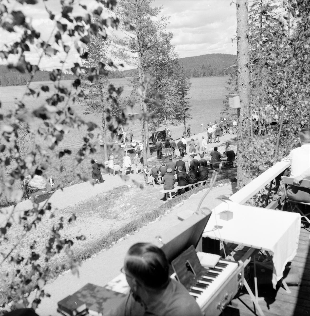 Stora Öjungen. Flugans fritidsby invigs. 22/8-1962