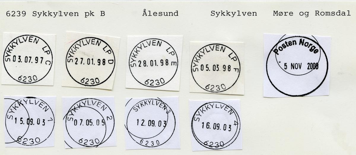 Stempelkatalog  6230 Sykkylven,Sykkylven kommune, Møre og Romsdal (Søkelven)
