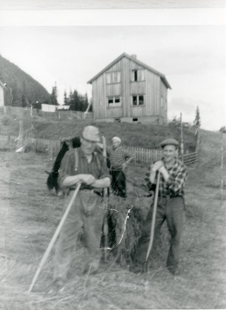 Gardsarbeid ved Øvre Bakken, Vestre Bagn.