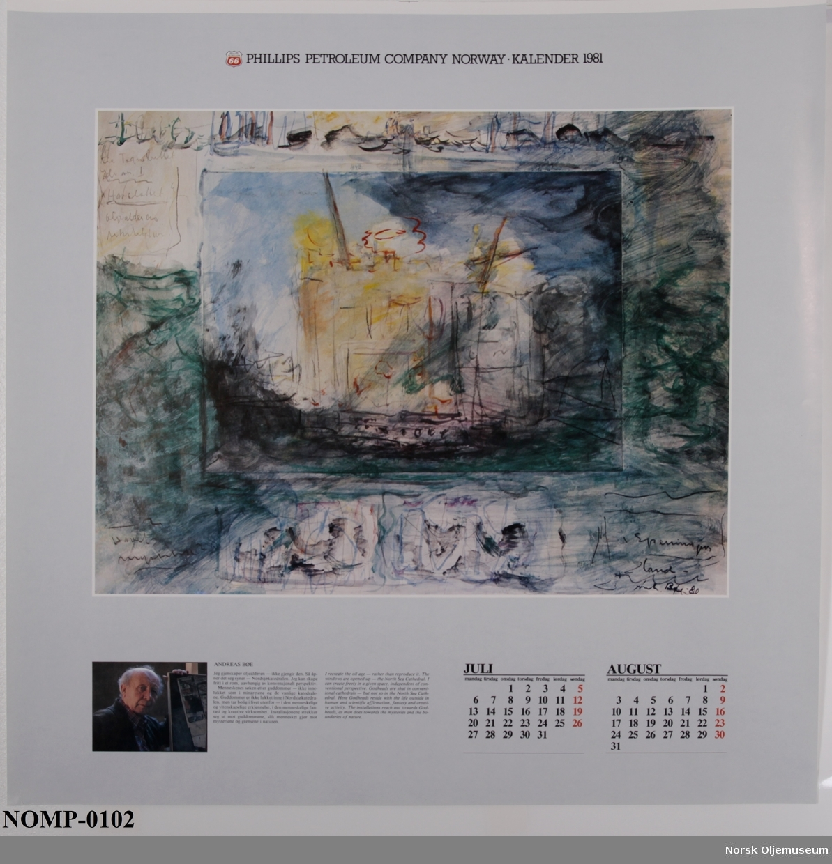 Kaldenderillustrasjonene består av ulike skipsmotiv fra kunsthistorien som illustrerer utviklingen av sjøfartshistorien.
