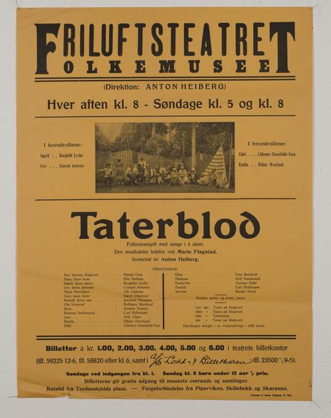 Teaterplakat NF.34668-076. Foto/Photo