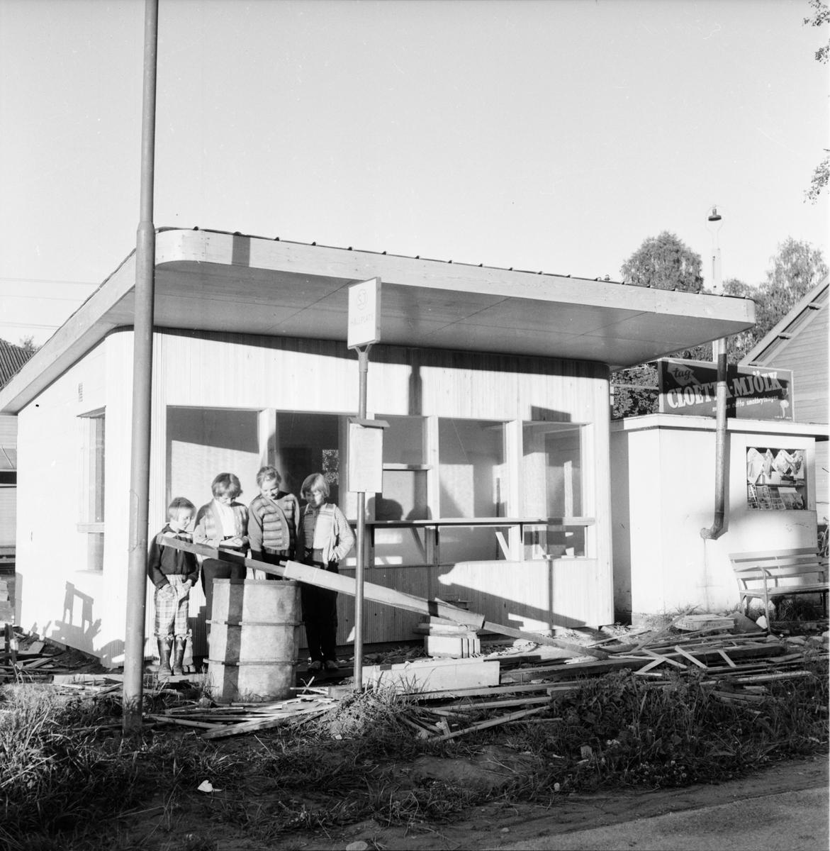 Samhället Stationen Stora huset Kiosken