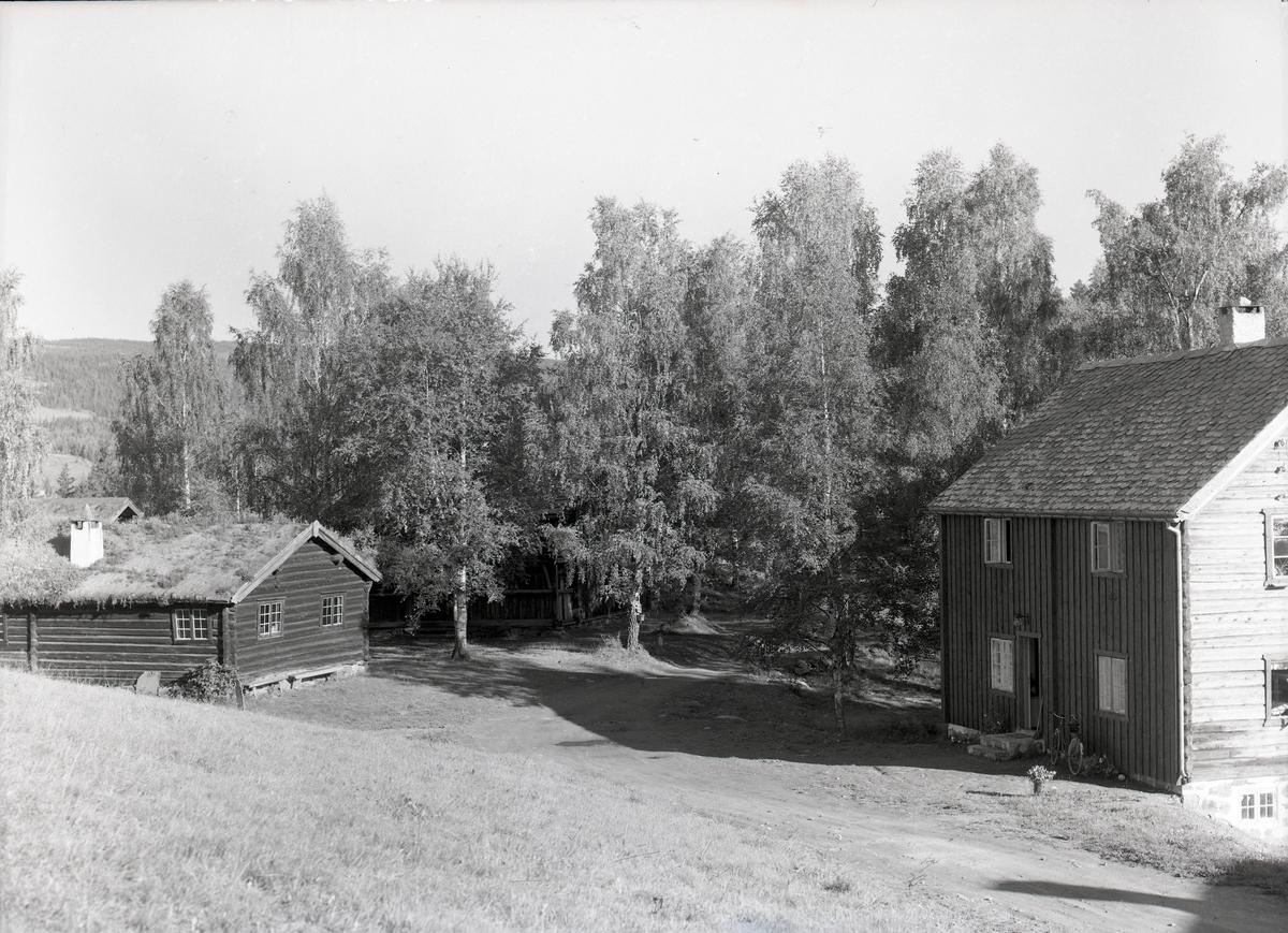 Bygninger ved Valdres Folkemuseum.