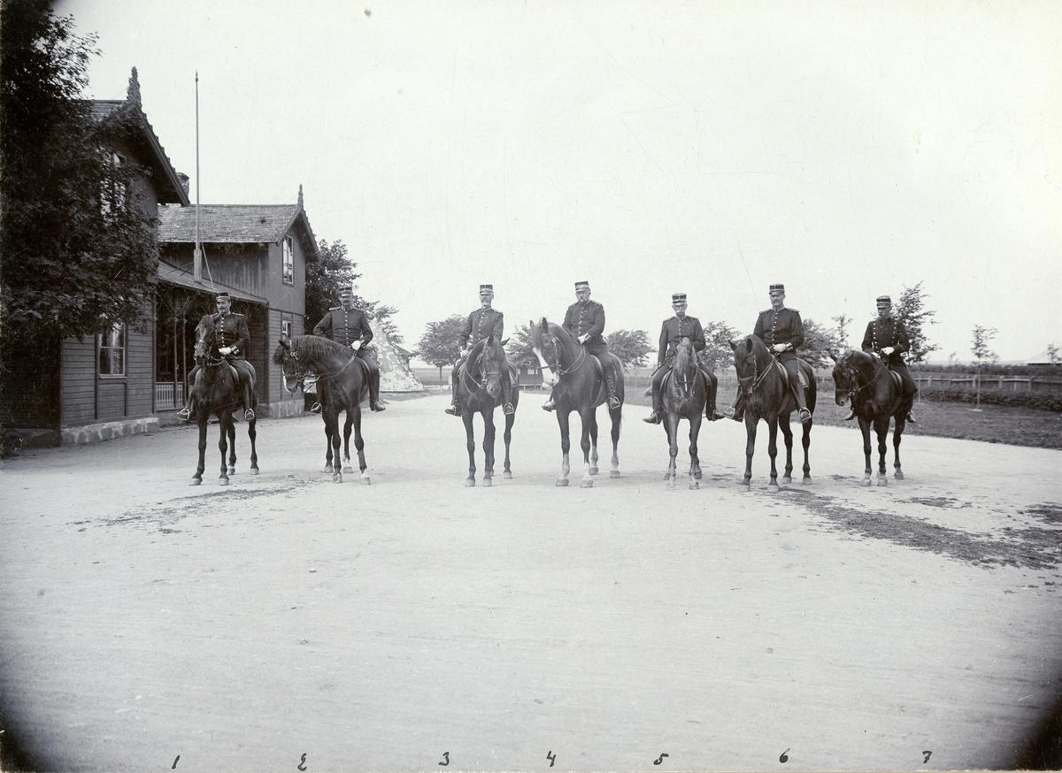 Grupporträtt av officerare vid Norra skånska infanteriregementet I 24, 1899. För namn, se bild nr. 2.
