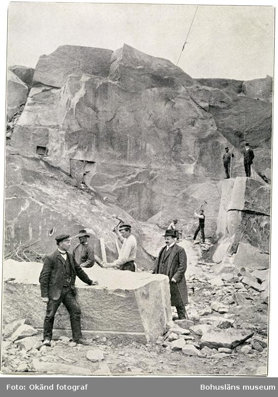 Motivet kommer ur okänd publikation och visar ett stenbrott som inte var i Skandinaviska Granits ägo