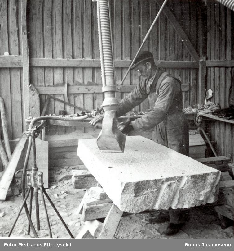 Bearbetning av stenblock