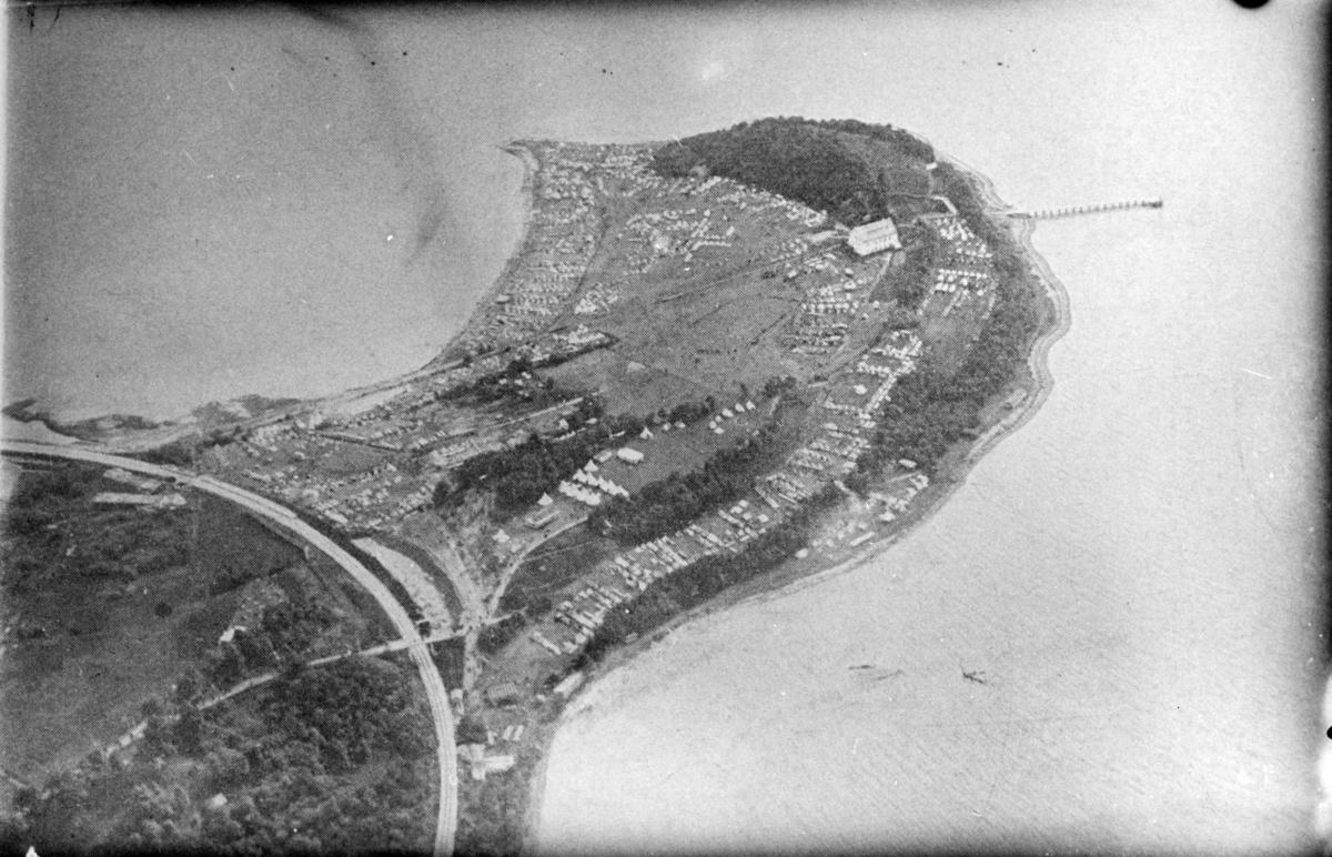 Landsleir i Åndalsnes 1928. Oversikt over leirområdet.