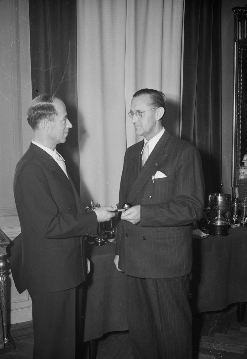 SKM, ordförandebyte, Uppsala, december 1952
